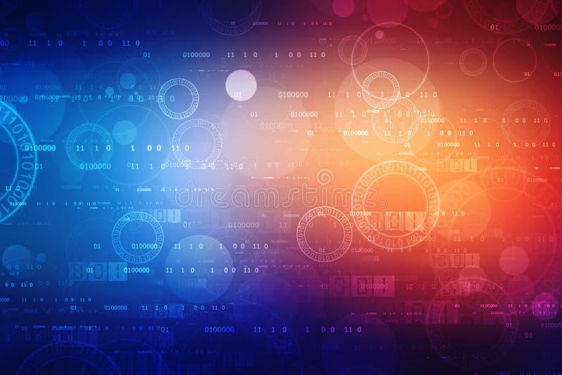数字式抽象技术背景,网络空间背景,未来派背景 库存例证