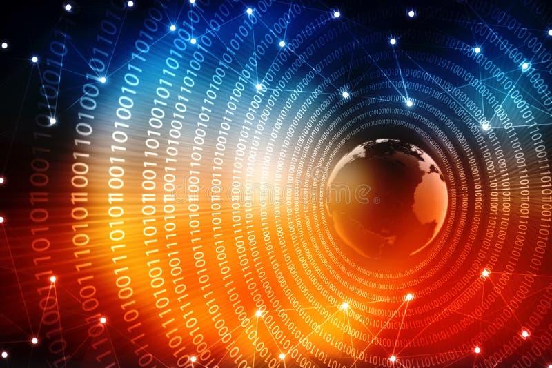 数字式抽象技术背景 概念全球互联网 库存例证