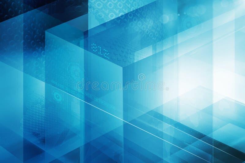 数字式抽象立方体技术背景概念系列 皇族释放例证