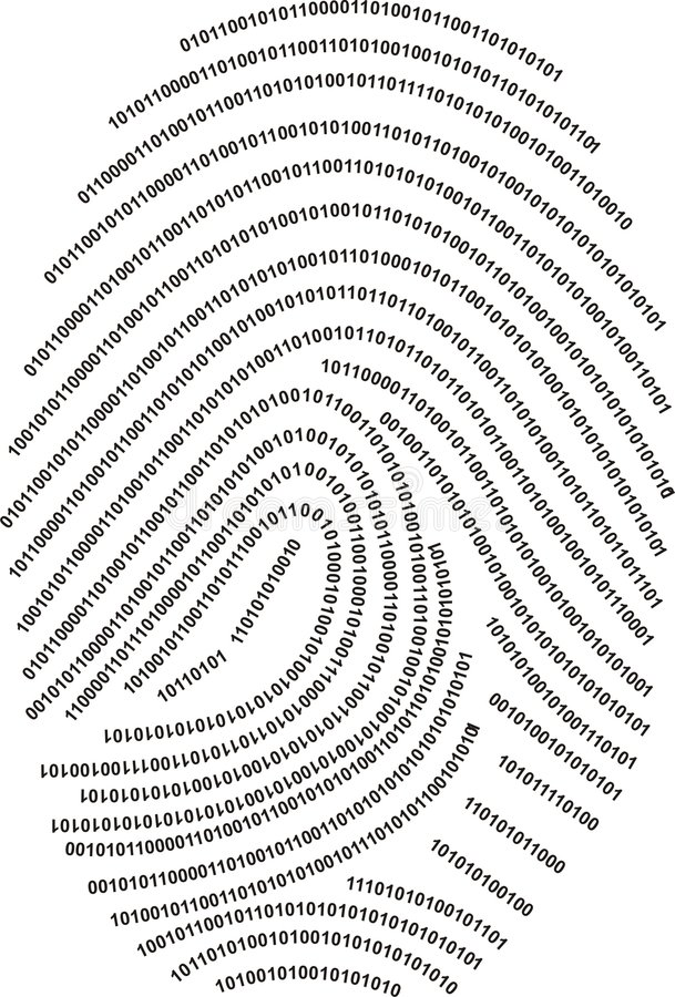 数字式指纹做编号 皇族释放例证
