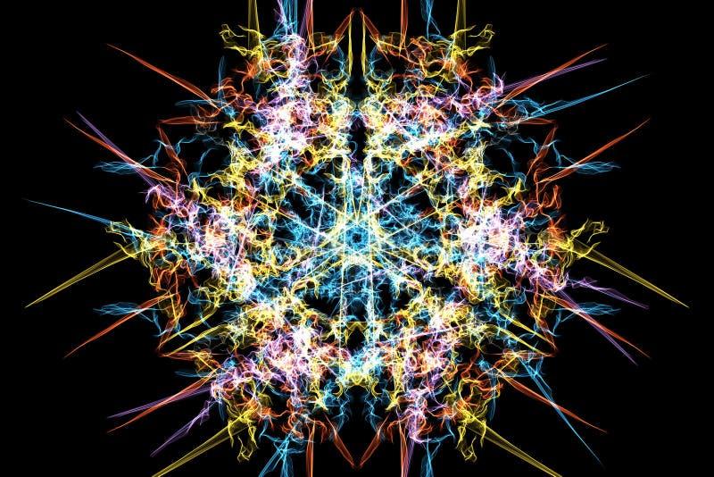 数字式摘要神圣的几何样式设计 向量例证