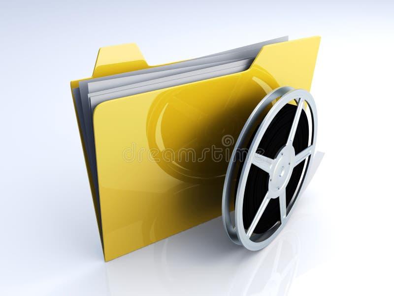 数字式文件夹录影 皇族释放例证