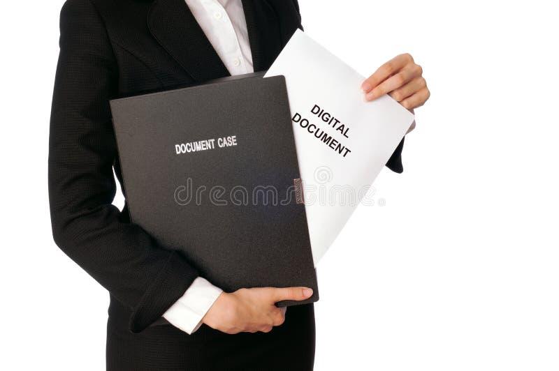 数字式文件 库存照片