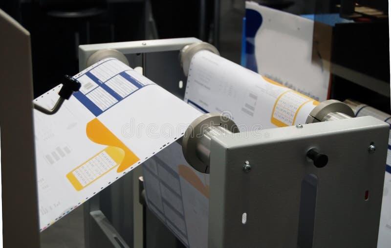数字式新闻打印 免版税图库摄影