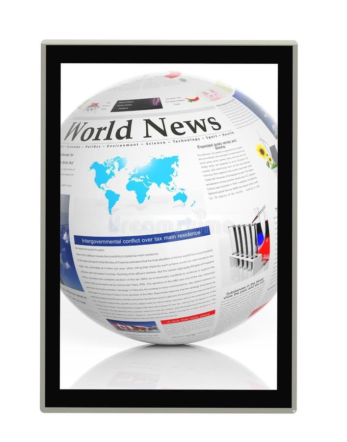 数字式新闻概念 向量例证