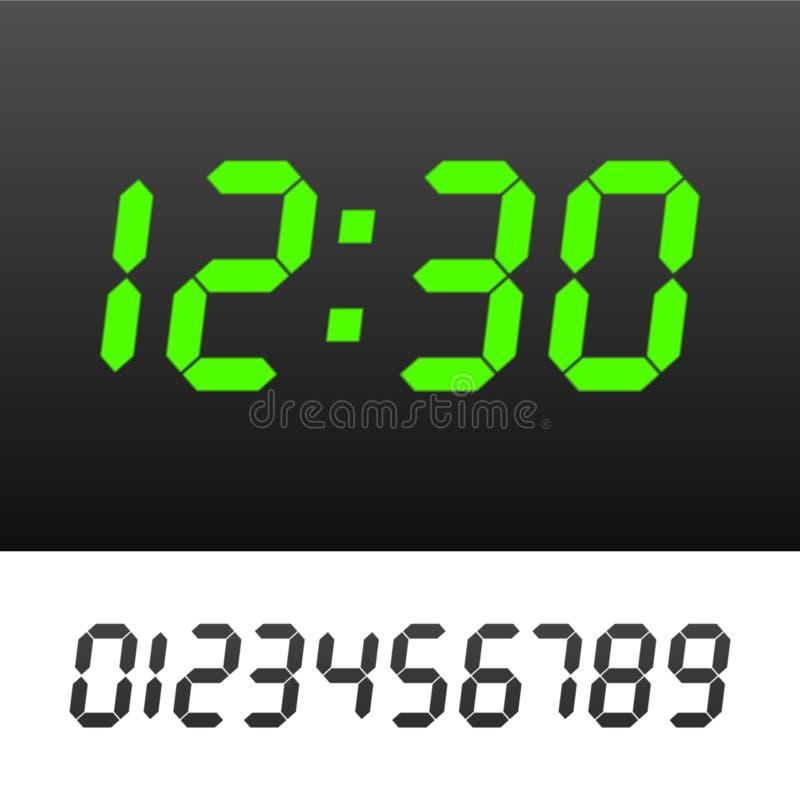 数字式时钟 库存例证