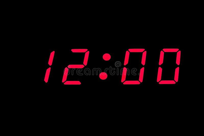 数字式时钟 免版税图库摄影