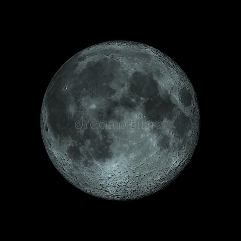 数字式月亮 皇族释放例证