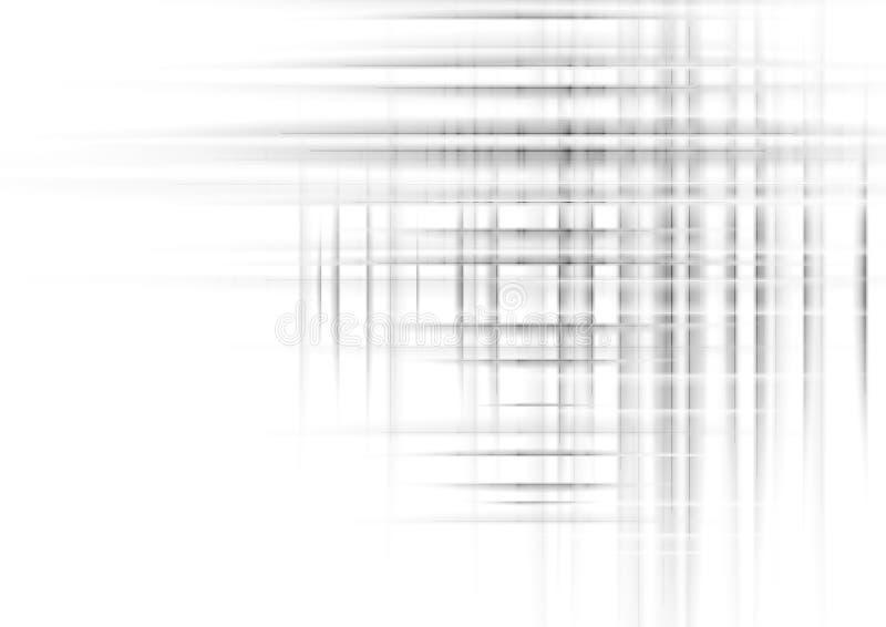 数字式未来派技术摘要灰色线和条纹背景 库存例证