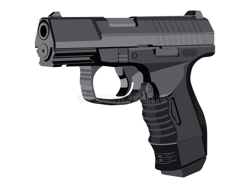 数字式枪 向量例证