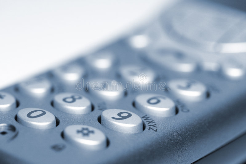 数字式电话 库存照片