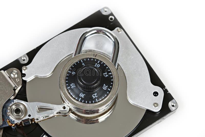 数字式硬盘驱动器和锁定 库存图片