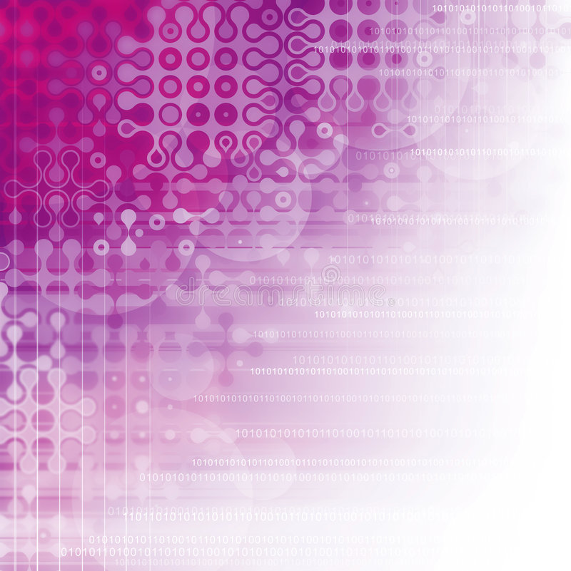 数字式紫色 向量例证
