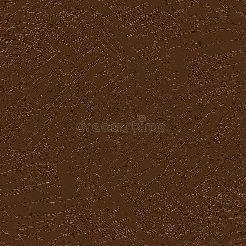 数字式绘画摘要毛面纹理在黑暗的金属铜颜色背景中 向量例证