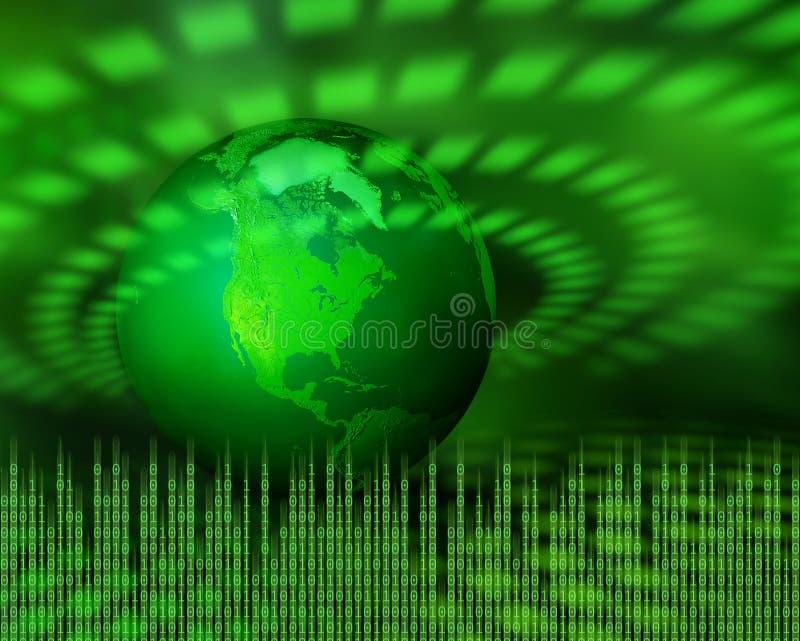 数字式绿色行星 皇族释放例证