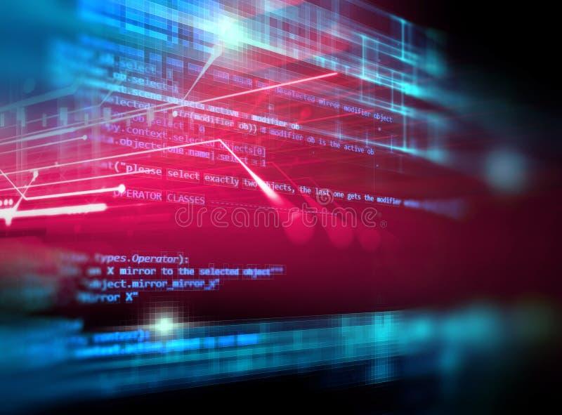 数字式编码号摘要技术背景 库存例证
