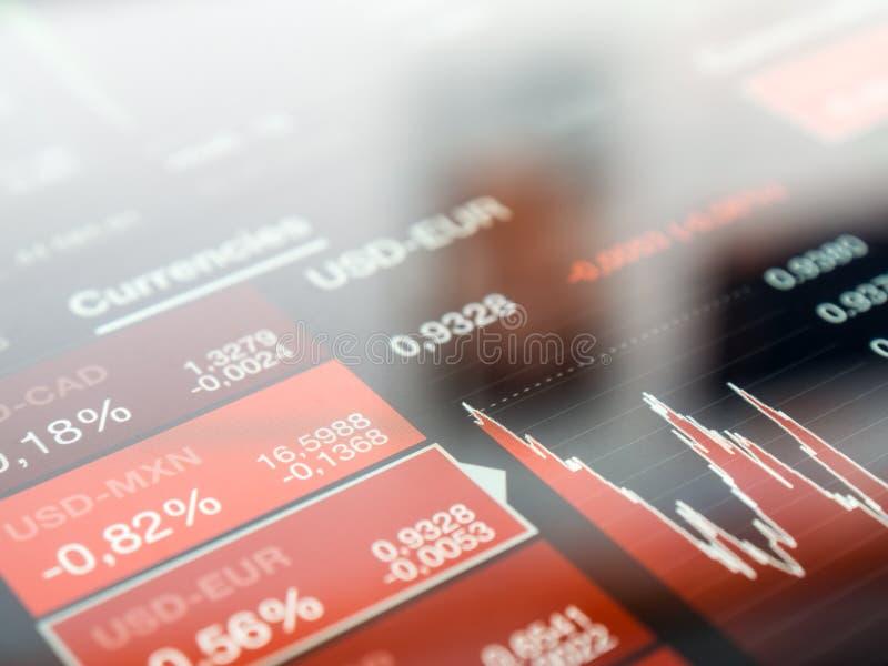 数字式股市屏幕 库存图片