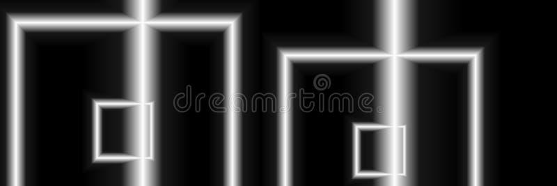数字式艺术,与软的照明设备的抽象三维对象阿尔弗莱德格奥尔Sonsalla,德国 库存例证