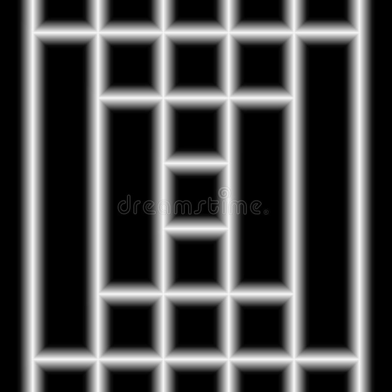 数字式艺术,与软的照明设备的抽象三维对象 皇族释放例证