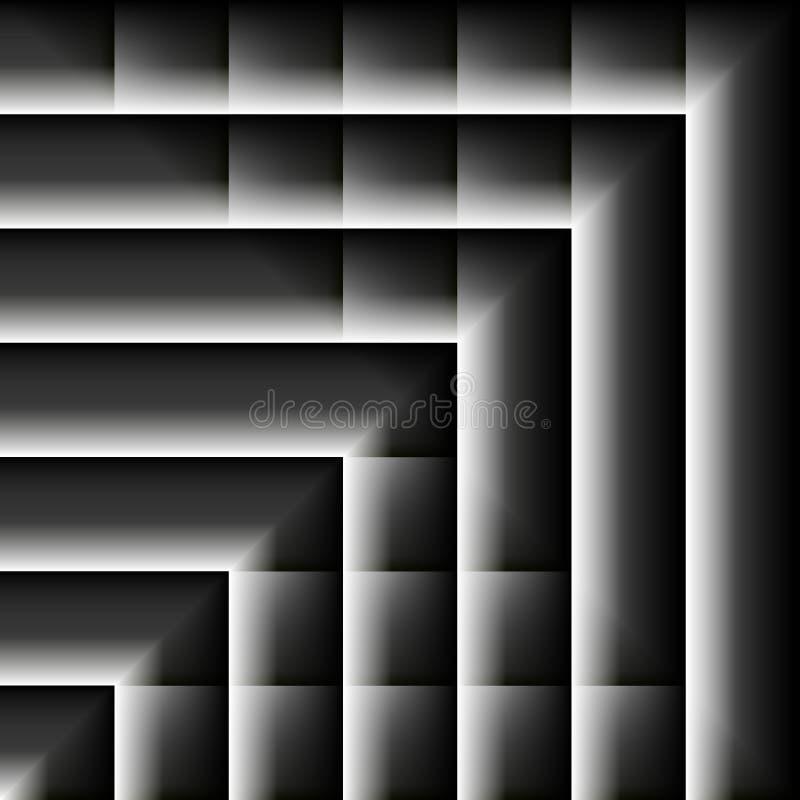 数字式艺术,与软的照明设备的抽象三维对象 向量例证
