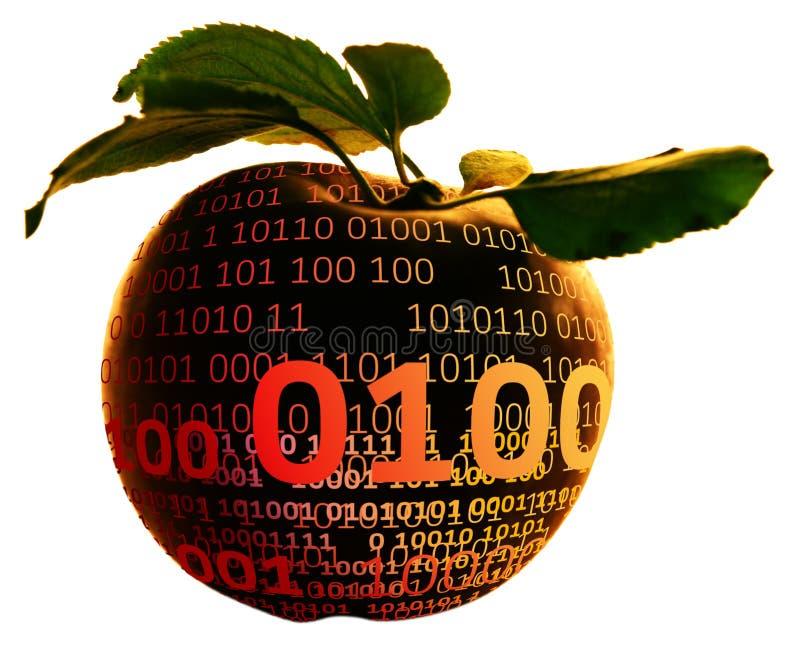 数字式苹果 库存照片
