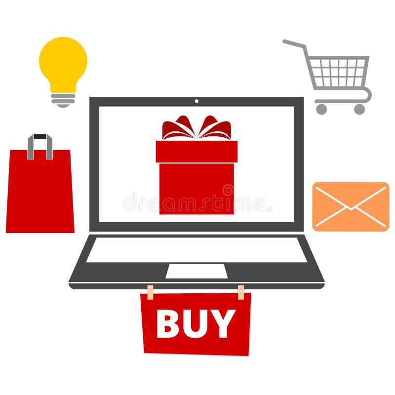 数字式营销,购买象 向量例证