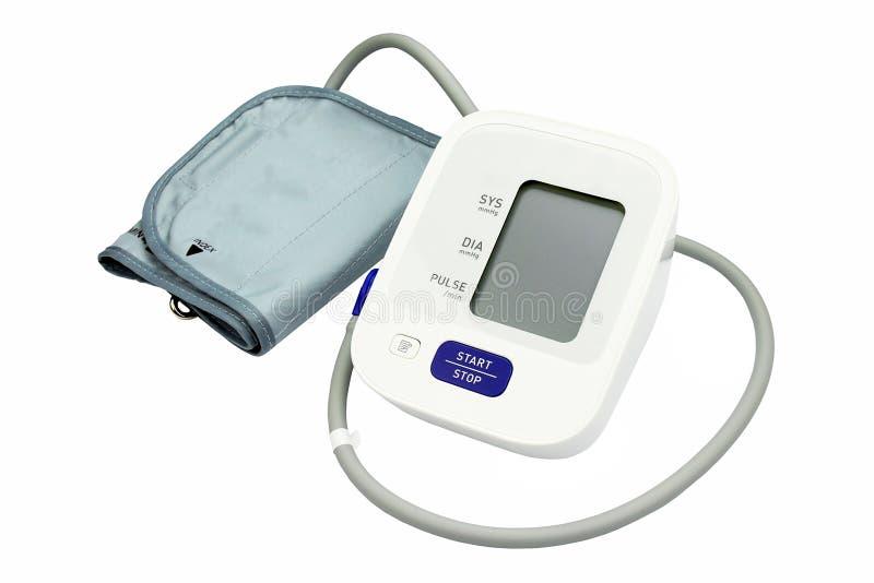 数字式血压显示器,医疗和审查的设备 免版税库存照片
