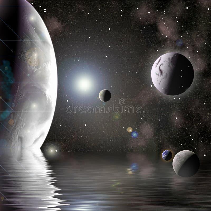 数字式行星 向量例证
