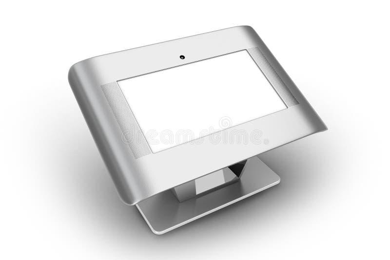 数字式触摸屏幕板 库存例证