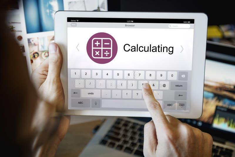 数字式计算器网页应用概念 免版税库存图片