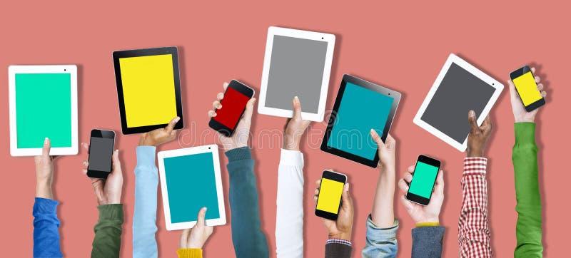 数字式设备网上技术社会媒介概念 皇族释放例证