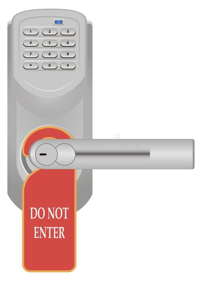 数字式锁定 库存例证