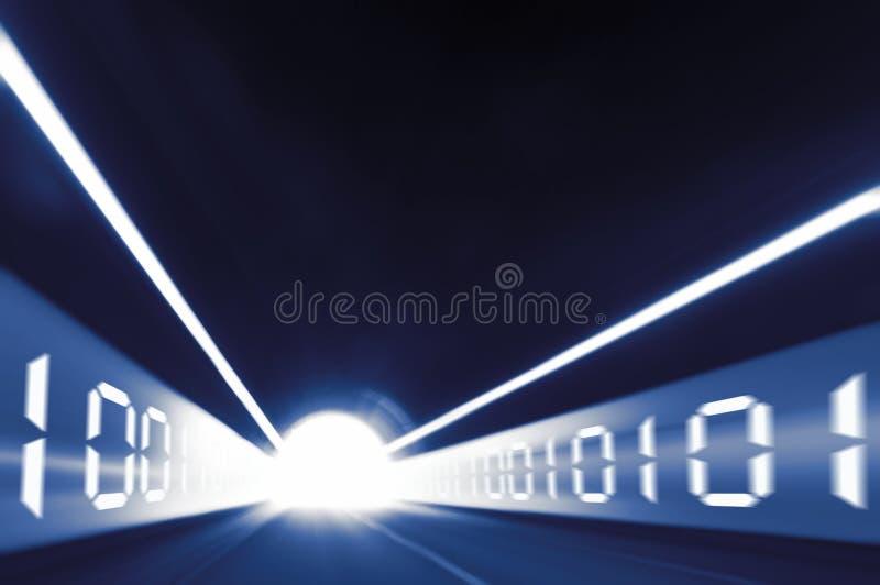 数字式隧道 库存图片