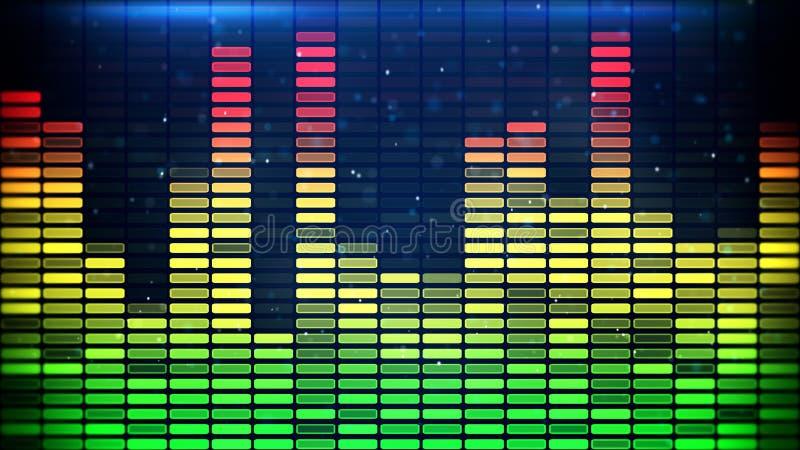数字式音乐调平器经典之作颜色 皇族释放例证