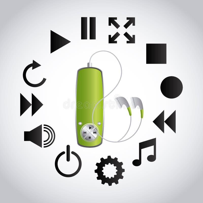 Download 数字式音乐 向量例证. 插画 包括有 数字式, 记录, 图象, 按钮, 看板卡, 作用, 设计, 介绍, 多媒体 - 59101525
