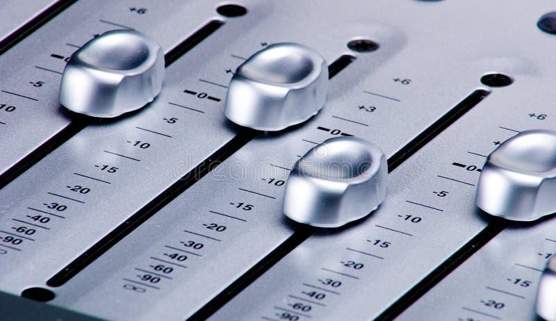 数字式音量控制器搅拌机 免版税库存图片