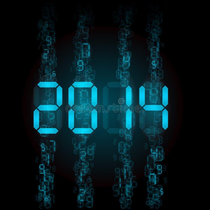 数字式2014个数字。 皇族释放例证