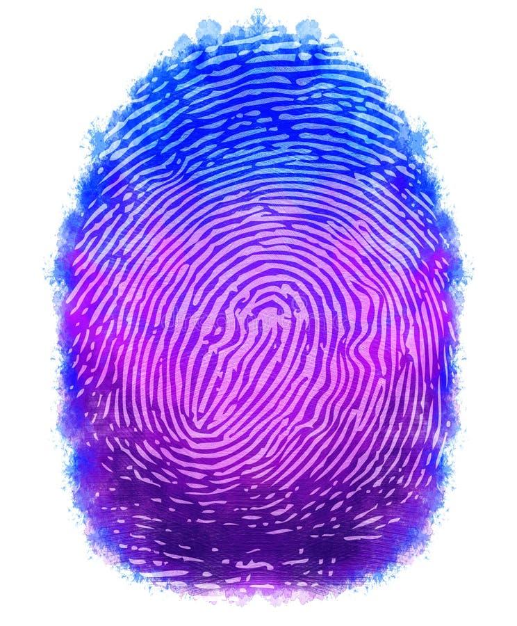 数字式绘画指纹设计 皇族释放例证