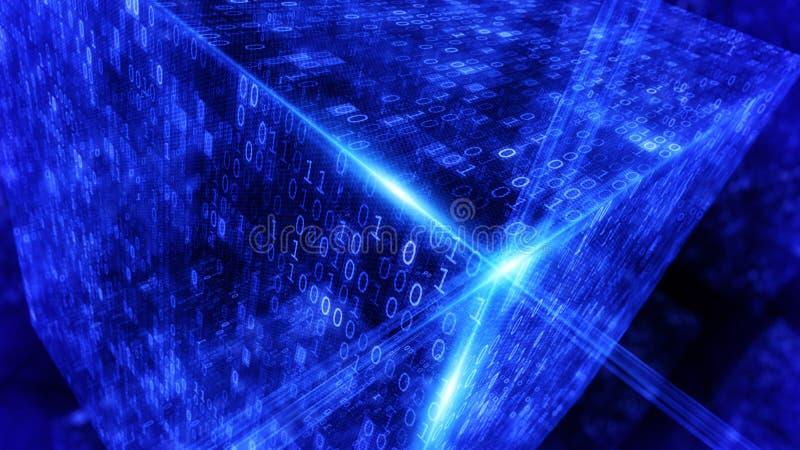 数字式代码背景 库存例证