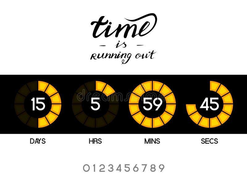 数字式读秒定时器 库存例证