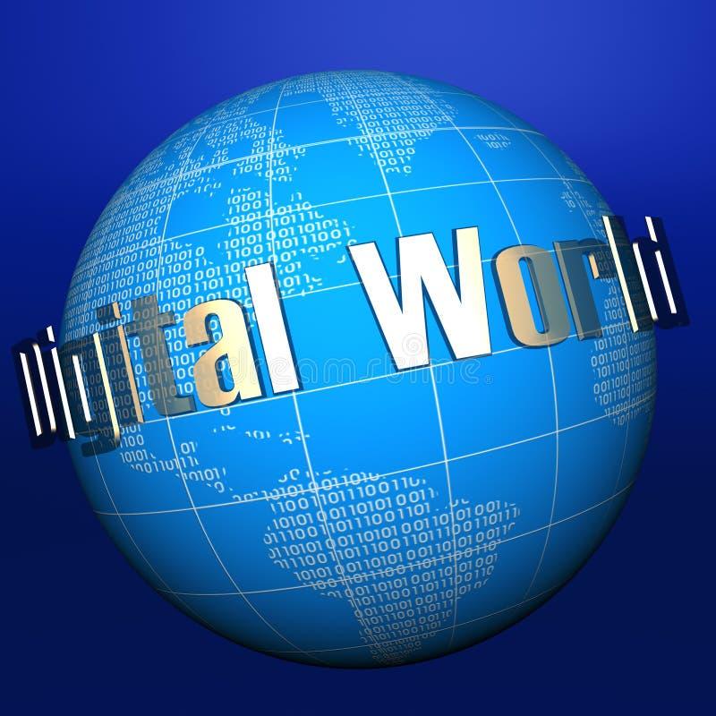 数字式globe1 库存例证