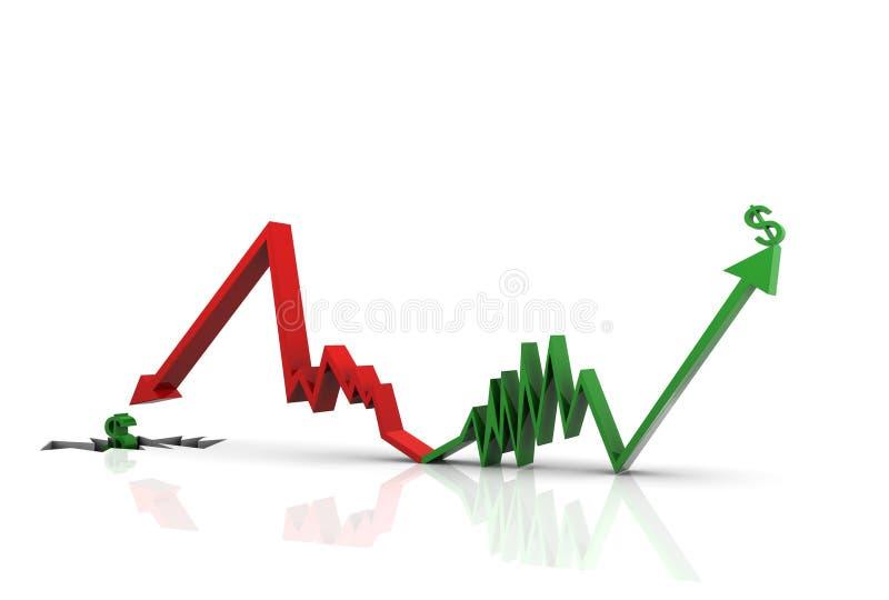 数字式gr例证通货膨胀后退 向量例证