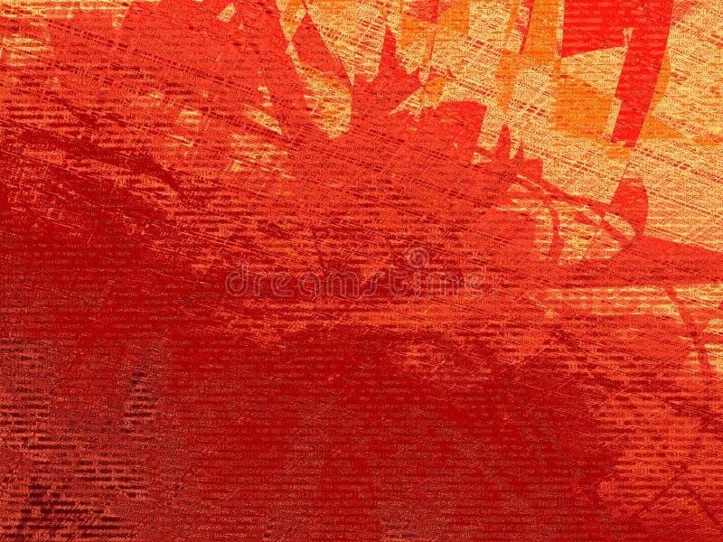 数字式grunge红色 库存例证