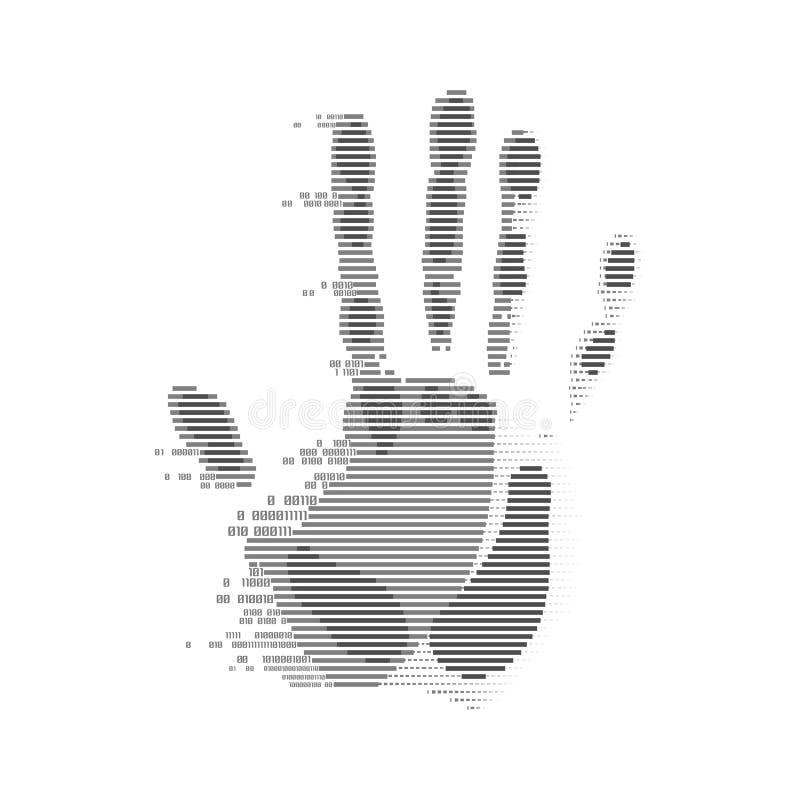 数字式Handpint 皇族释放例证