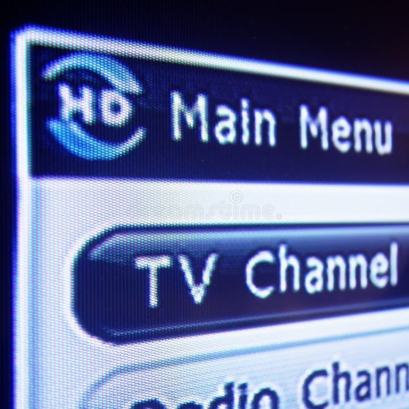 数字式hd菜单电视 免版税库存图片