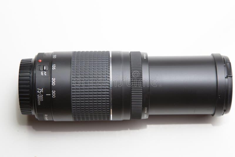 数字式SLR照相机的变焦镜头 免版税库存图片