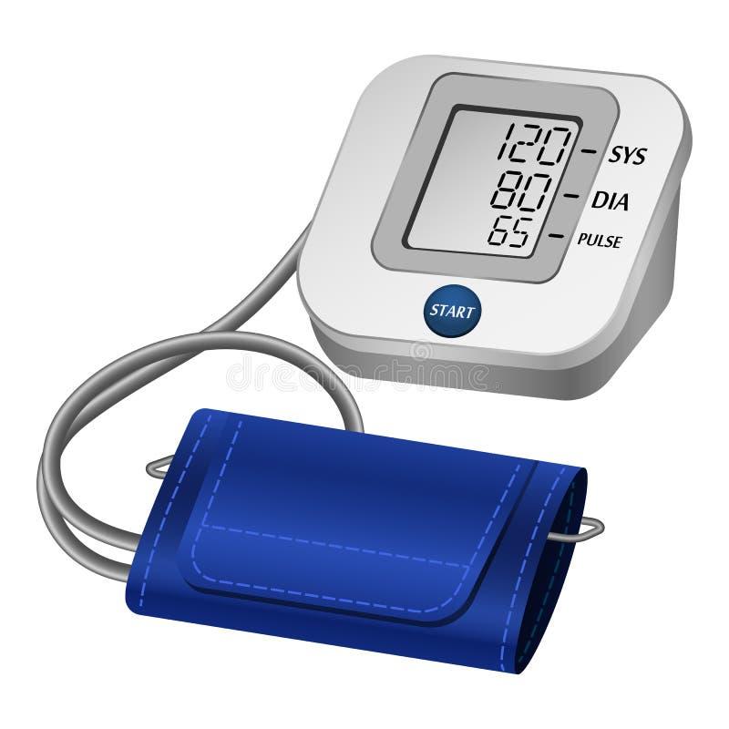 数字式tonometer大模型,现实样式 皇族释放例证