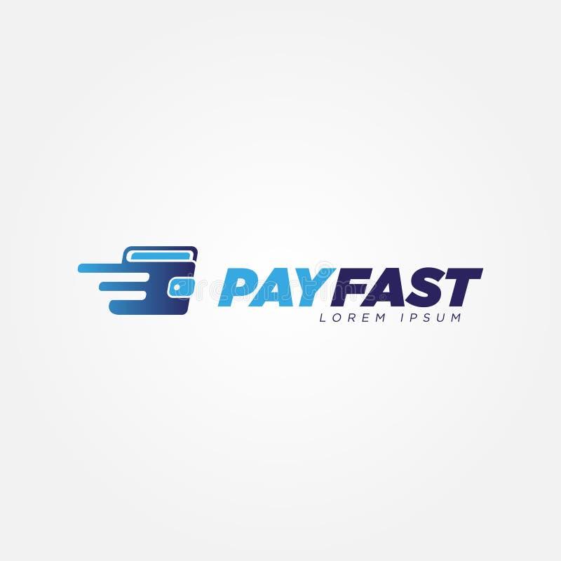 数字快速的付款钱包商标标志标志象 库存例证