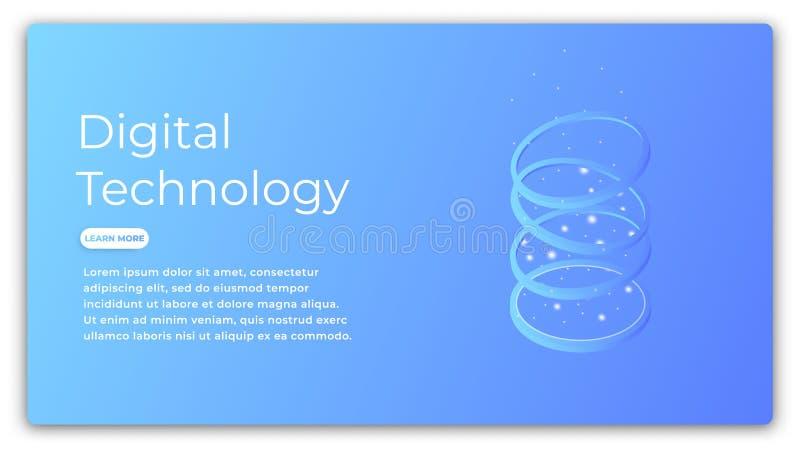 数字技术等量概念 数据分析,大数据处理,云彩计算的例证 未来派 皇族释放例证