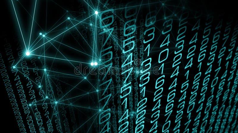 数字技术算法新的人工智能逻辑分析方法变革小点和线算法 皇族释放例证